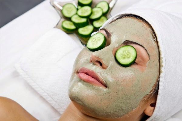 masker alami wajah dengan mentimun
